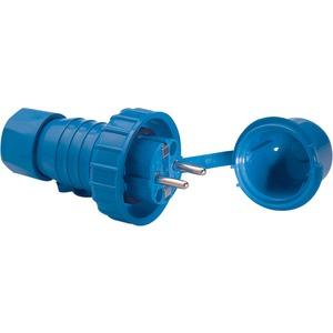 DWD-SCHUKO-Stecker mit Schutzkappe Thermoplast blau IP68