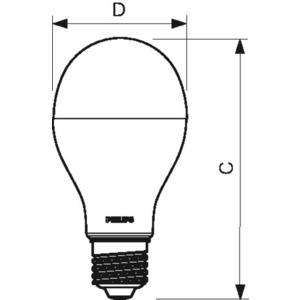 LED-Lampe CorePro LEDbulb 18,5-120W 2000lm A67 E27 827 matt