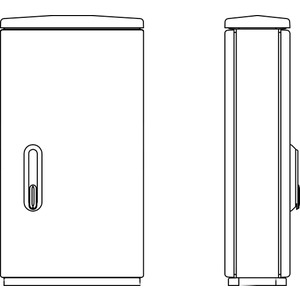 Verteilerschrank Serie F F3/1 850/320 440x836x322mm