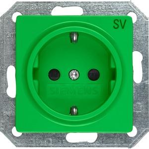 I-System Schuko Steckdose mit Bedruckung SV grün