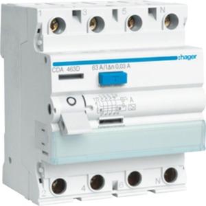 Fehlerstrom-Schutzschalter 4-polig 63 A 30 mA Typ A