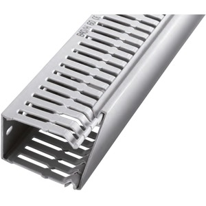 Verdrahtungskanal mit Klebeband 9 mm BxH 25 x 60 mm PVC grau RAL7030 VPE=60 m