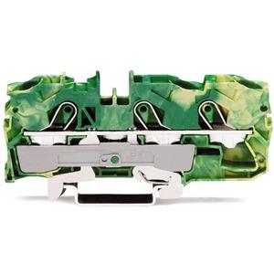 3-Leiter-Schutzleiterklemme 0,5 - 10 mm² grün-gelb