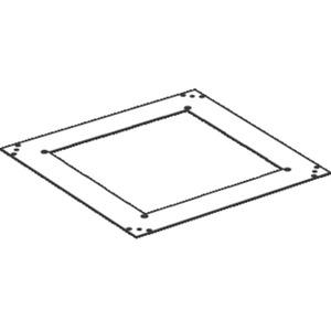 Aufnahmedeckel 3 mm quadratisch Teppichschutzrand