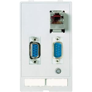 Modlink Frontplatteneinbau Datensteckereinsatz 2xSUB-D9 1x RJ45