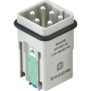 Kontakteinsatz Stift Han Q Han-Quick Lock Kontaktanzahl 5/0 1 Baugröße 3 A