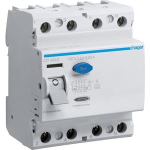 Fehlerstrom-Schutzschalter 4-polig 100 A 30 mA Typ A