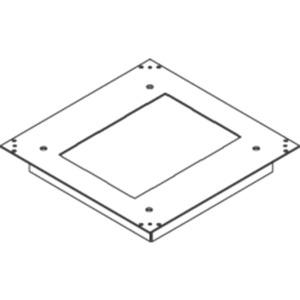 Aufnahmedeckel 3 mm rechteckig Teppichschutzrand