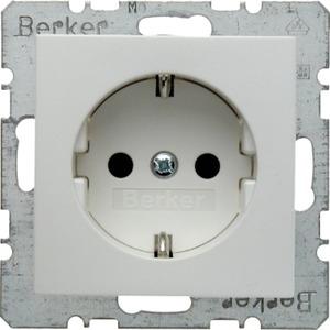 SCHUKO-Steckdose mit erhöhtem Berührungsschutz S.1/B.3/B.7 polarweiß matt