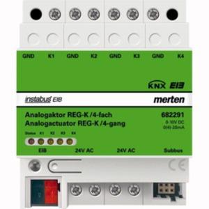 Analogaktor REG-K/4-fach lichtgrau