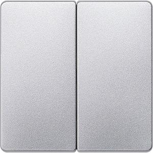 I-System aluminium-metallic Wippe für Serien/Doppel-Wechselschalter