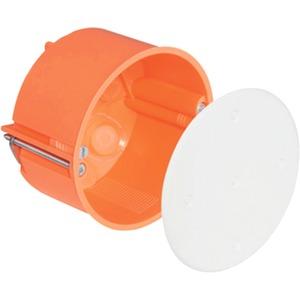 Hohlwand Verbindungsdose Ø 74 mm mit Deckel orange