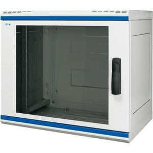 Wandgehäuse 19 Zoll 2-teilig T=600mm 21HE Tür Glas + Schwenkhebel