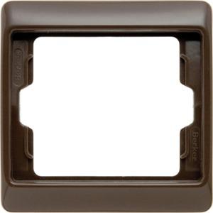 Abdeckrahmen 1-fach Arsys - braun/ glänzend