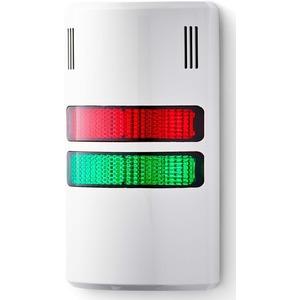 Half Dome kompakte Signalsäule  230-240 V AC rot-grün grau RAL 7035
