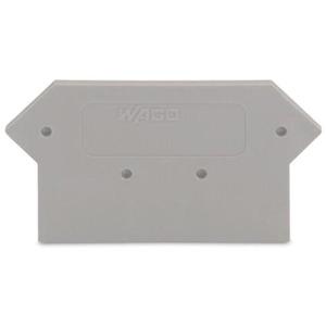 Abschluss- und Zwischenplatte 3 mm dick grau