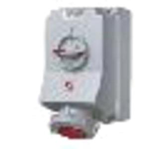CEE-Wandsteckdose abschaltbar 32A 4p 500V 7h IP67