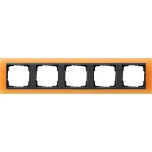 5-fach Abdeckrahmen für anthrazit Event Opak orange