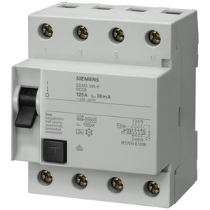 Fehlerstromsschutzschalter / FI 4p Typ A 125 A 100 mA 400 V