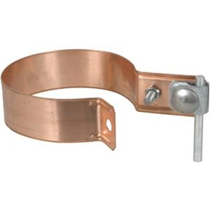 Regenrohrschelle Ø = 100 mm mit Überleger Kupfer