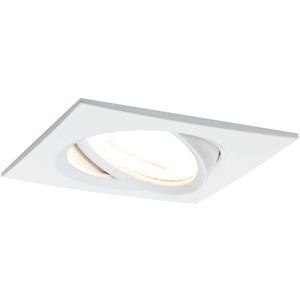 Einbauleuchte Nova eckig schwenkbar 1x6,5W GU10-LED Weiß matt 3-stepdim