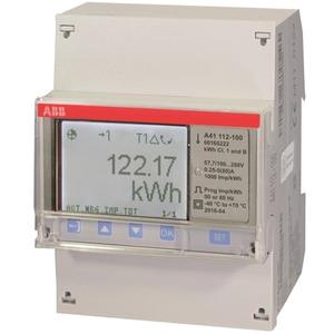 A41 Wechselstromzähler 1 + N mit Direktanschluss bis 80 A  Stahl