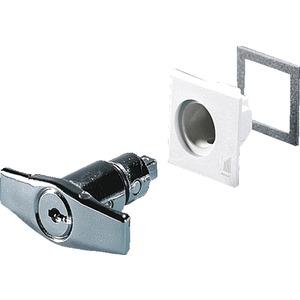 Knebelgriff Ausführung B mit Sicherheitszylinder-Einsatz
