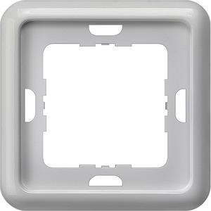 1-fach Rahmen DELTA profil silber 80x80mm