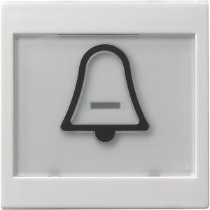 Wippe abtastbar beschriftbar Symbol Klingel System 55 reinweiß
