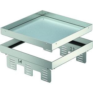 Quadratische Kassette blind 243x243mm V2A