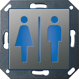 Orientierungsleuchte LED WC Damen Herren für E22 Edelstahl