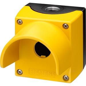 Gehäuse für 22mm ProG.Kunststoffausf. 1 Befehlsstelle gelb mit Schutz
