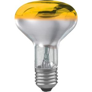 Glühlampe Reflektor R80 60 Watt E27 Gelb