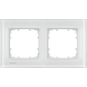 2-fach Glas Rahmen DELTA miro Glas weiß 161x90mm