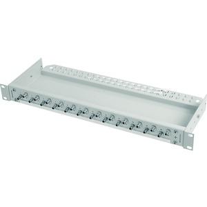 ECONOMY V 1 HE Rangierverteiler mit eingebauten Kupplungen/Adaptern 6xSC Duplex