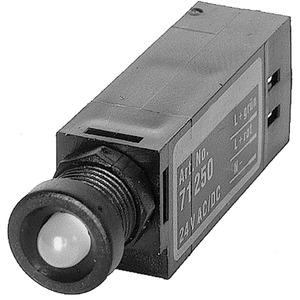 LED Anzeigebaustein opac / gelb 24V AC/DC 10 mA IP65