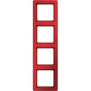 4-fach Rahmen Q.1 - rot/ samt - für senkrechte und waagrechte Montage