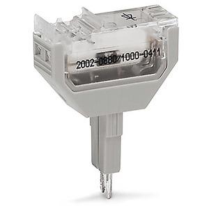 Diodenbaustein mit Diode 1N4007 als Freilaufdiode 10,4 mm breit grau