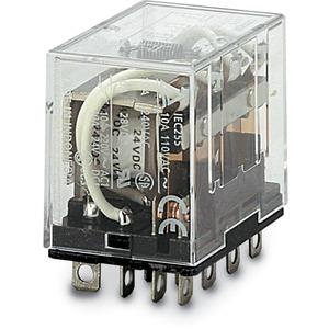 Miniaturrelais 24VAC / 10 A 4 Wechsler Sockeltype
