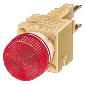 Leuchtmelder 16mm rund Kunststoff rot Lampenfassung W2x4,6 d mit Glühlampe 24 V