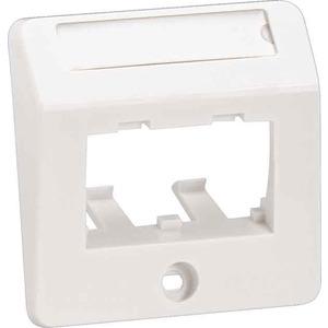 Schrägzentralplatte 2-Port Unterputz 50 x 50 µm reinweiß