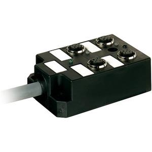 Passiver Verteiler 4xM12 5-polig LED 24V DC mit 10m Kabel