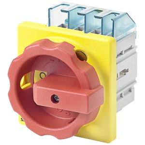 Haupt-/Not-Aus-Schalter 4pol. I32 P/AC-23A bei 400V=11,5kW Vierlochb