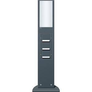 Energiesäule 769mm Lichtelement 3 x SCHUKO KS Energiesäule anthrazit