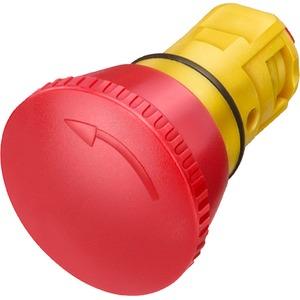 Not-Halt-Pilzdrucktaster 16mm rund Kunststoff rot