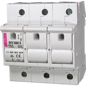 Lasttrennschalter D02 3 polig 63 A