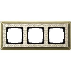 3-fach Abdeckrahmen für ClassiX Art Bronze cremeweiß