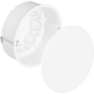 Hohlwand Verbindungsdose Ø 120 mm halogenfrei mit Deckel weiß