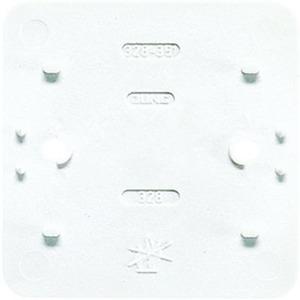 Bodenplatte flammwidrig für Einzelgeräte weiß glänzend