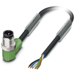 Sensor-Aktor-Kabel 5-polig PVC schwarz Stecker gewinkelt M12 1,5m